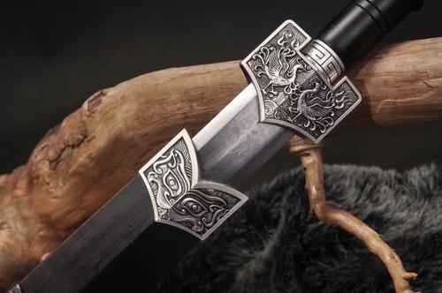 espada dinastia han jian aço carbono dobrado fênix kung fu