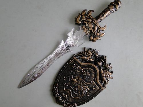 espada do gladiador com escudo dragão fantasia cosplay sword