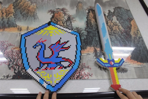 espada e escudo minecraft - eva