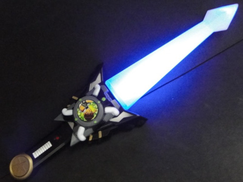 espada eletronica ben 10 omniverse omnitron  05 sons + luz