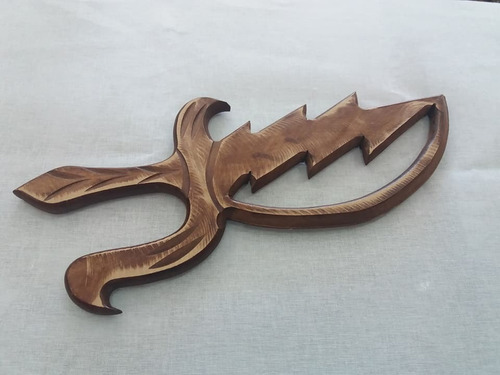 espada em madeira yansã - candomblé - umbanda em mdf