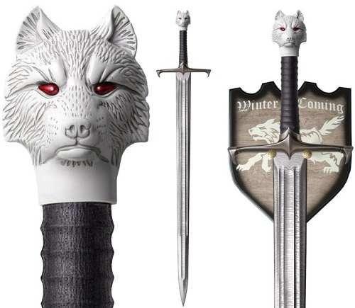 espada game of thrones jon snow tamanho real