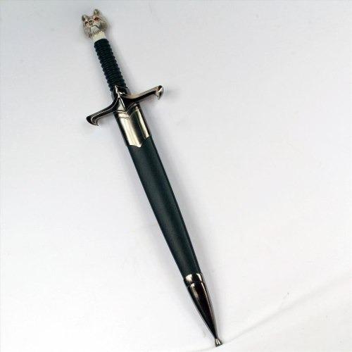 espada game of thrones lobo jon snow adaga punhal 37,5cm