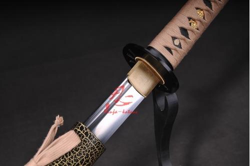 espada katana aço aisi 9260 treino tameshigiri afiada
