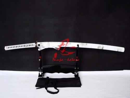 espada katana lâmina vinho afiada corte aço 9260 tradicional