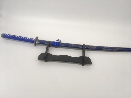 espada katana samurai azul dragão esculpido linda