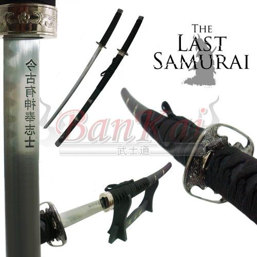 espada katana ultimo samurai aço + suporte de mesa + brinde.