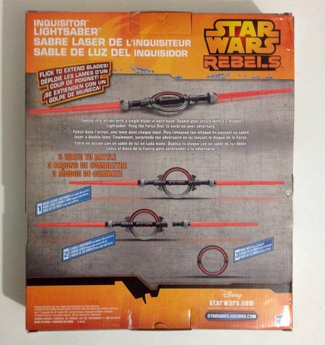 espada láser del inquisidor hasbro star wars lightsaber