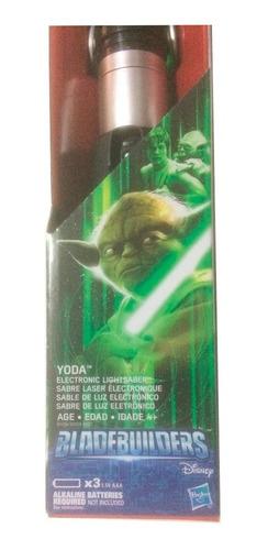 espada láser yoda verde electrónica lightsaber star wars