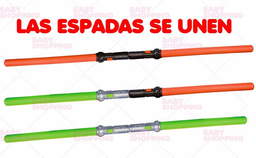espada luminosa light saber sword jedi sith x 2 sable luz