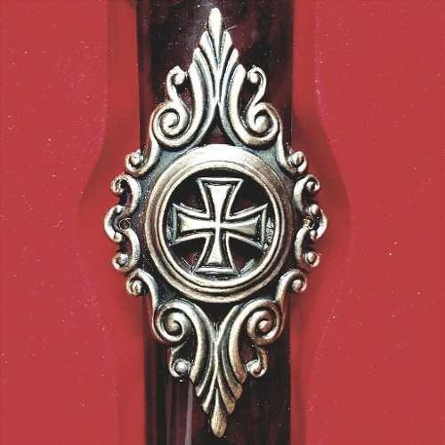 espada maçônica cavaleiros templários aço + bainha decorada