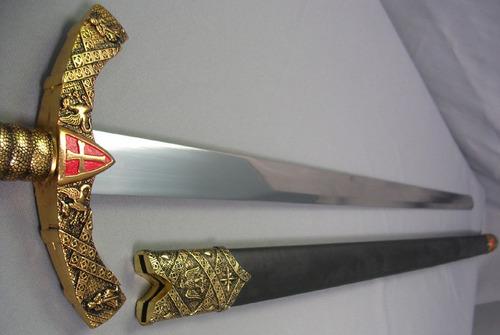 espada medieval caballero templario soldado de cristo dagas