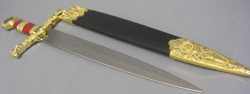 espada medieval corta metalica salomonica roja dagas katanas