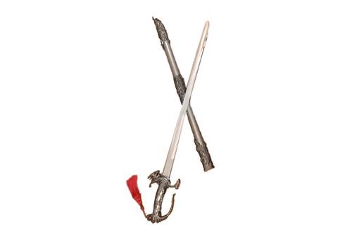 espada medieval metálica dragão 94 cms. frete grátis