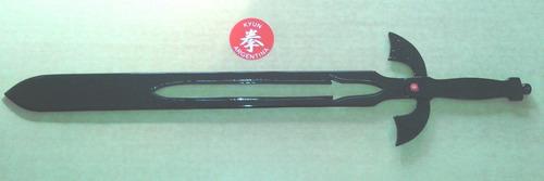 espada medieval para entrenamiento - aluminio macizo black