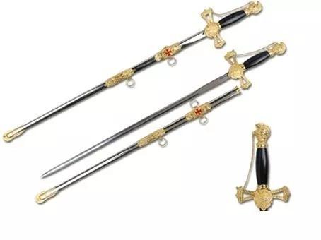espada medieval templaria  cruz de malta[frete gratis]