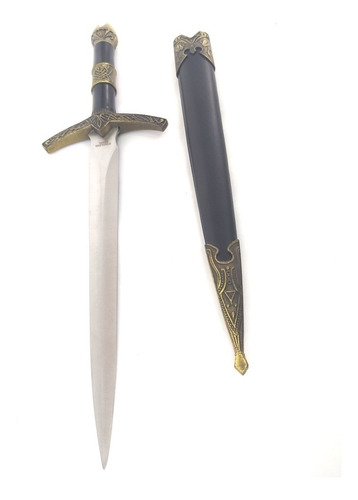 espada mini  adaga punhal 35cm crown medieval suporte grátis