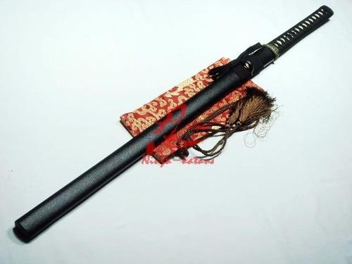 espada ninja lâmina de 2 gumes afiada aço carbono 1095
