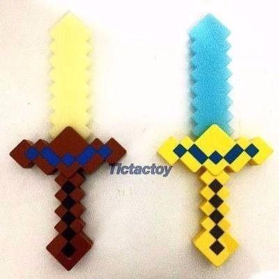 espada ou picareta minecraft - emite som e luz brinquedo