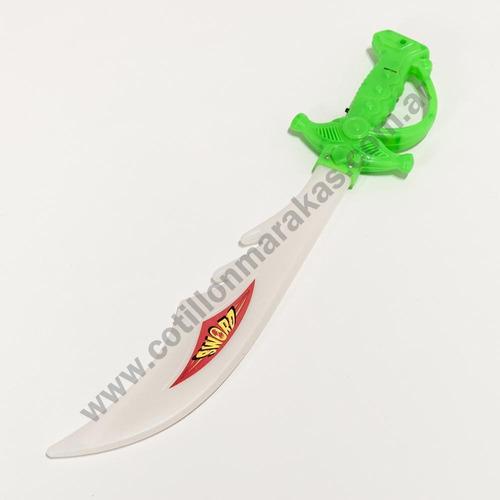 espada sable con luz led x 1