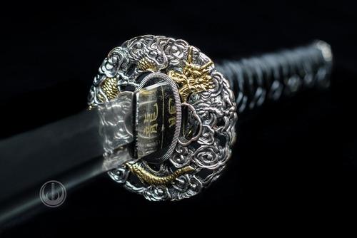 espada samurai katana afiada forjada aço damasco original
