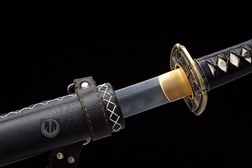 espada samurai katana bainha tática aço t10 carbono forjado