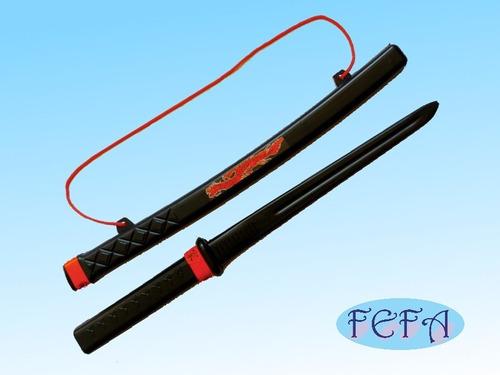 espada samurai ninja brinquedo infantil 58 cm - 10 unidade