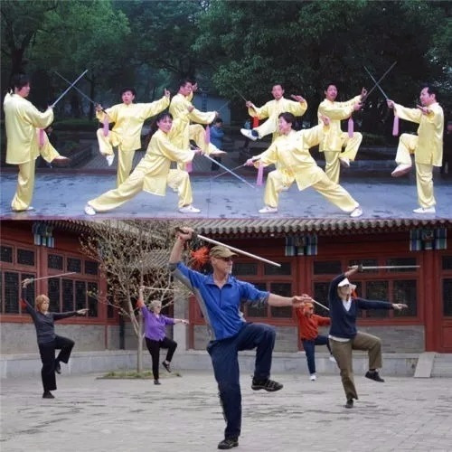 espada wen jian treino tai chi kung fu retrátil telescopicag