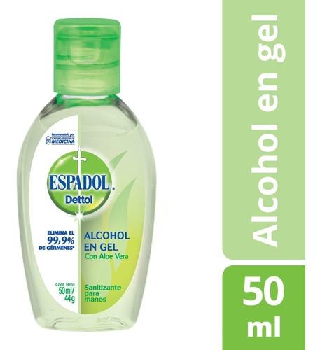 espadol alcohol en gel fresh con aloe vera x 50ml
