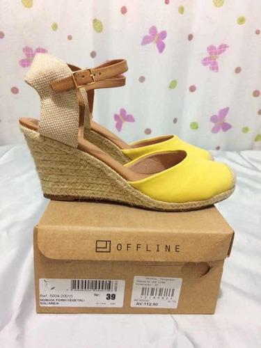 espadrille amarelo anabela