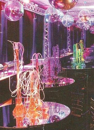 espaguete de pvc cristal colorido para decoração e afins
