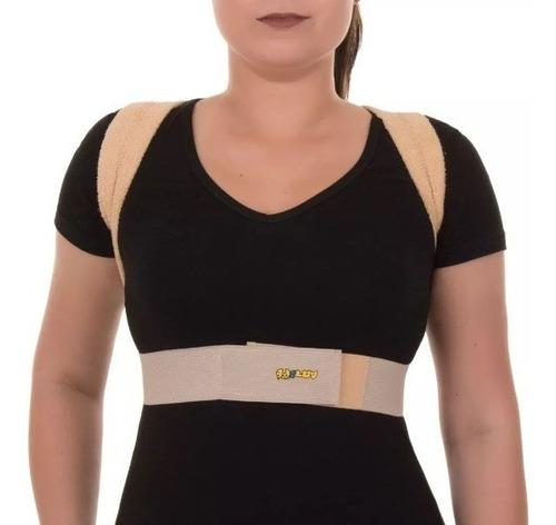 espaldeira simples corretor postural bege