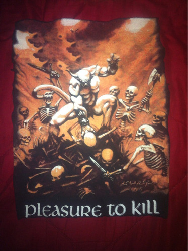 espaldera de kreator 'pleasure to kill'