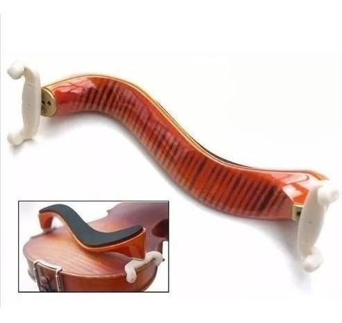 espaleira violino madeira rajada ajustável 3/4 e 4/4