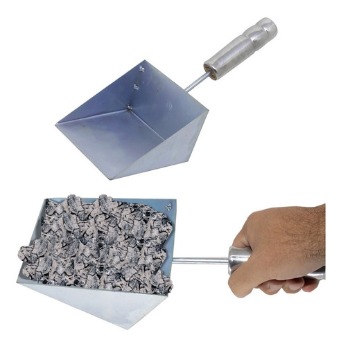 espalhador de brasa + rastelo mexedor carvão + pa limpeza
