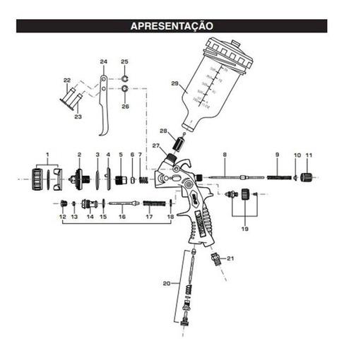 espalhador para pistola wimpel mp2014 - peça numero 01