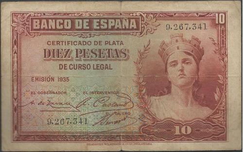 españa 10 pesetas 1935 p86a