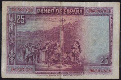 españa 25 pesetas 15 ago 1928 p74