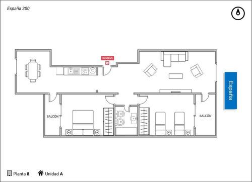 españa 300 - departamento de dos dormitorios en venta en rosario