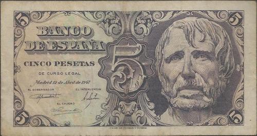 españa 5 pesetas 12 abr 1947 p134