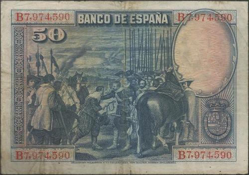 españa 50 pesetas 15 ago 1928 p75c
