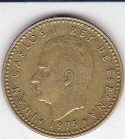 españa, antigua moneda coleccionable 1 peseta  1.975