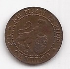 españa antigua moneda de 1 centimo año 1870 excelente