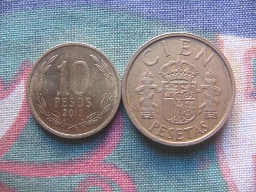 españa cien pesetas 1984 de bronce