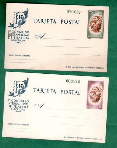 españa  - enteros postales 88/89 - alto valor de catalogo