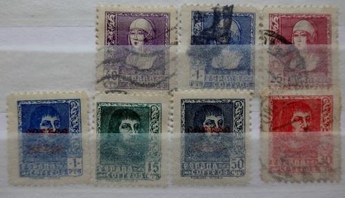 españa lote 7 estampillas fernando e isabela catolica 1938