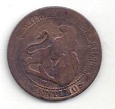 españa - moneda de 5 céntimos - año 1870