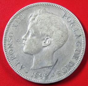 7c16ffde1434 Moneda Espana 5 Pesetas 1898 - Monedas y Billetes en Mercado Libre ...