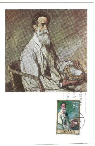 españa pinturas ignacio de zuluaga 1971 tarjeta maxima