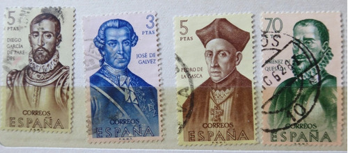 españa serie 21 estampillas forjadores america 21 sellos